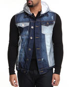 Basic Essentials - Removable Hood Denim Jacket