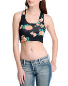 Women - Floral Crop Top