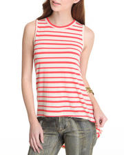 Basic Essentials - Hi Lo Stripe Tank Top