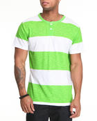 Men - S/S slub Stripe Henley