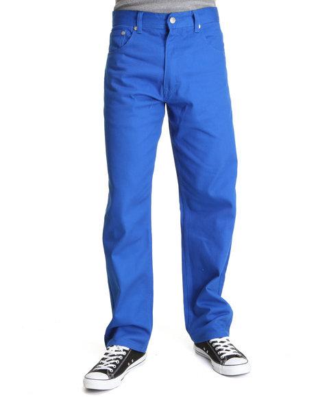 Akademiks Men Blue Akademiks Colour Twill Pants