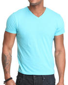 Shirts - Solid Heathered V-neck tee