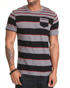 Shirts - Striped Chest Pocket S/S Tee
