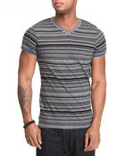 Shirts - Contrast Stripe V-neck tee