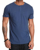 Short-Sleeve - Massive 2 button Henley Slub S/S tee