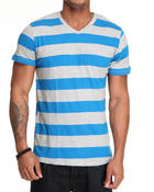 Shirts - Mid Striped V-neck tee