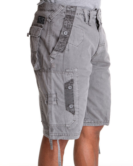 Marc Ecko Collection Men Grey Quick Wit Cargo Shorts