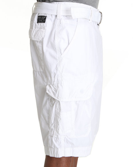 Marc Ecko Collection Men White Poplin Cargo Short