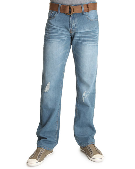 Basic Essentials Men Medium Wash Archer Denim Jeans