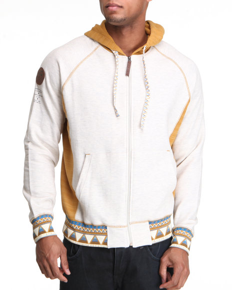 Rocawear Men Wheat Diamond Tribe Full Zip Hoodie