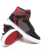 Supra - Vaider Snakeskin-Embossed Black Leather Sneakers