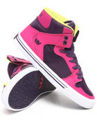 Supra - Vaider Pink Leather/Purple Nylon Sneakers