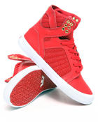 Supra - Skytop Red Leather/Mesh Sneakers