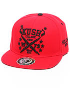 Men - Kush College Snapback Hat (Undervisor treatment)