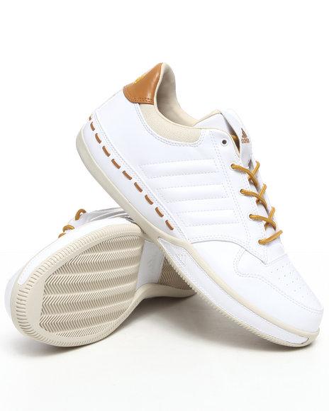 Adidas Men White,Yellow Lux Low Sneakers