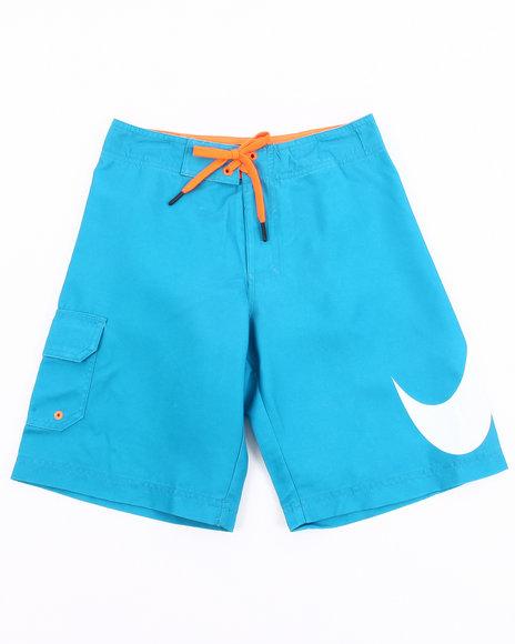 Nike Boys Teal Big Swoosh Shorts (8-20)