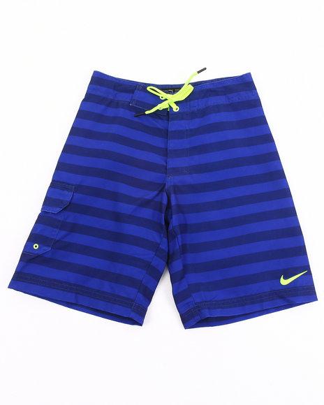 Nike Boys Blue Tonal Stripe Shorts (8-20)
