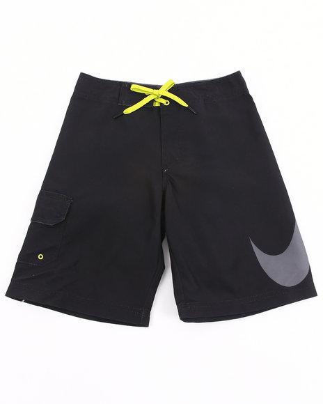 Nike Boys Black Big Swoosh Shorts (8-20)