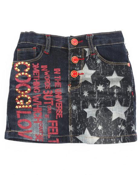 COOGI Girls Dark Wash Denim Skirt (2T-4T)