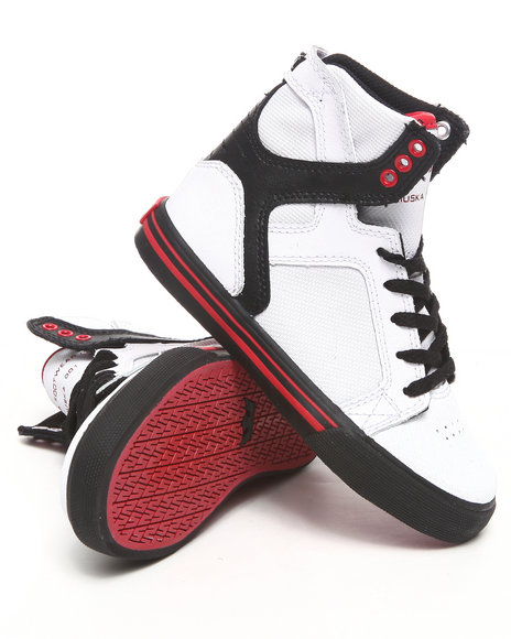 Supra Boys  Skytop White/Black Raptor Tuf Sneakers (Youth)