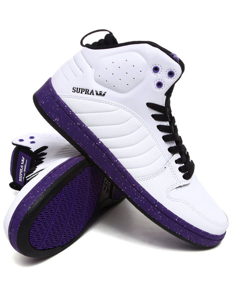 Supra Men  S1w White Gunny Tuf/Leather Sneakers