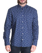 Men - Mini Dot Single Pocket Button Down Shirt