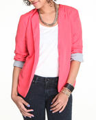 Outerwear - Riri U-Back Fly Away Blazer w/roll up sleeve