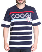 Shirts - Patriot Games Striped V-neck Tee