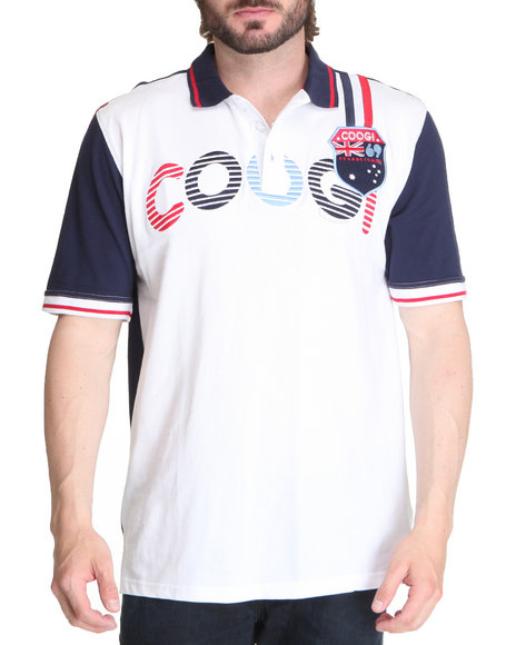 Coogi Men Multi Patriot Games Coogi Polo Shirt