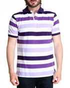Shirts - Mid Striped Pique Polo Shirt