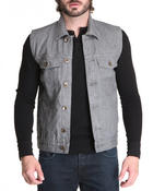 Vests - Raw Denim Vest