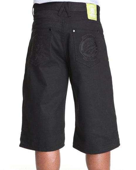 Akademiks Men Black Citizen Twill Cargo Shorts