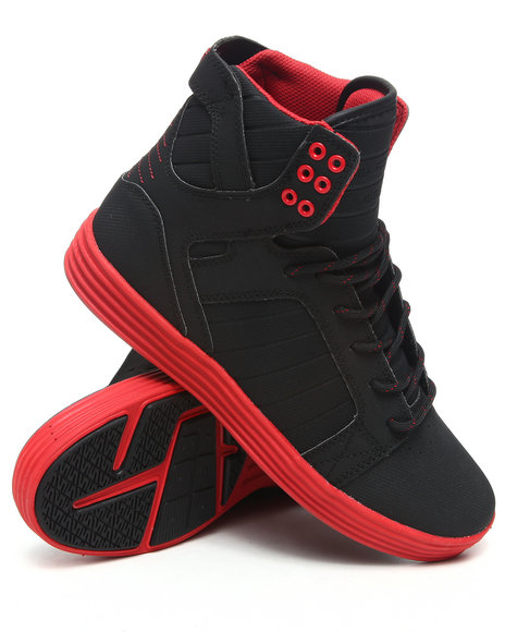 Supra Men Black,Red Skytop Lite Sneakers