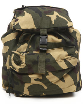 DRJ Army/Navy Shop - Camouflage Canvas Day Pack Backpack