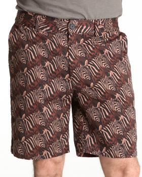 DJP OUTLET - Flat Front Zebra Head Print Short