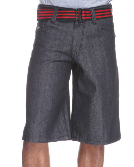 Enyce Men Black High Road Flap Bright Shorts