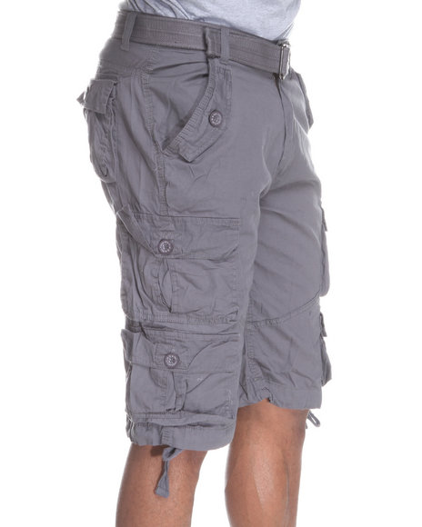 Buyers Picks - Heavy Washed Lt. Twill Belted Cargo Short