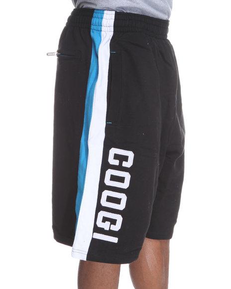 COOGI Men Black Thrones Fleece Shorts