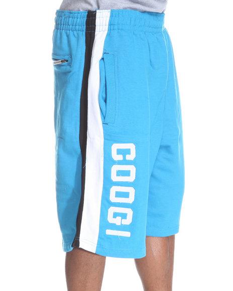 COOGI Men Blue Thrones Fleece Shorts