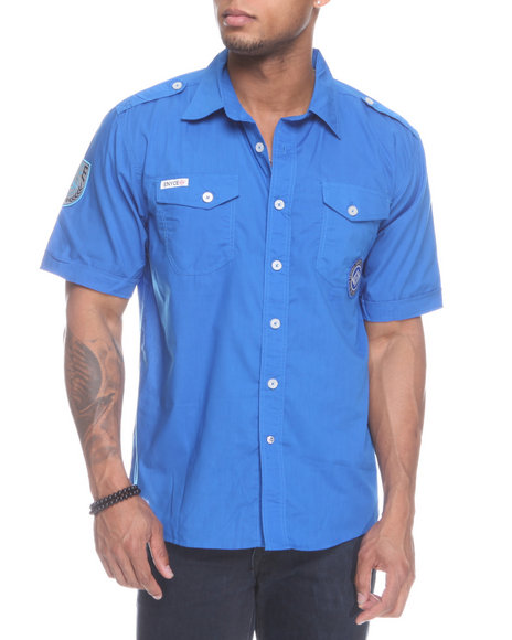 Enyce Men Blue Safety Short Sleeve Woven
