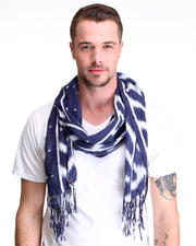 Shades of Grey by Micah Cohen - Blue Ikat Scarf