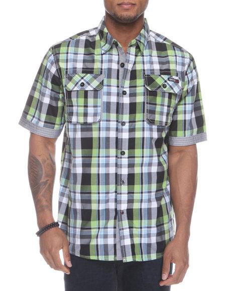 Enyce Men Green Glide Short Sleeve Woven