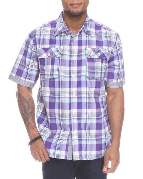 Enyce Men Purple Glide Short Sleeve Woven