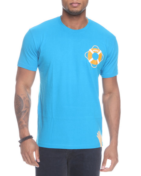 Enjoi Men Teal Lifesaver Tee