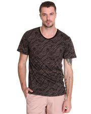 Shades of Grey by Micah Cohen - Low Crewneck Zebra Print Tee
