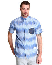 Button-downs - Ikat Graphic S/S Button Down