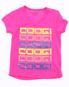 Girls - V-NECK LOGO TEE (4-6X)