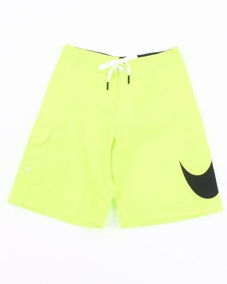 Nike Boys Yellow Big Swoosh Shorts (8-20)