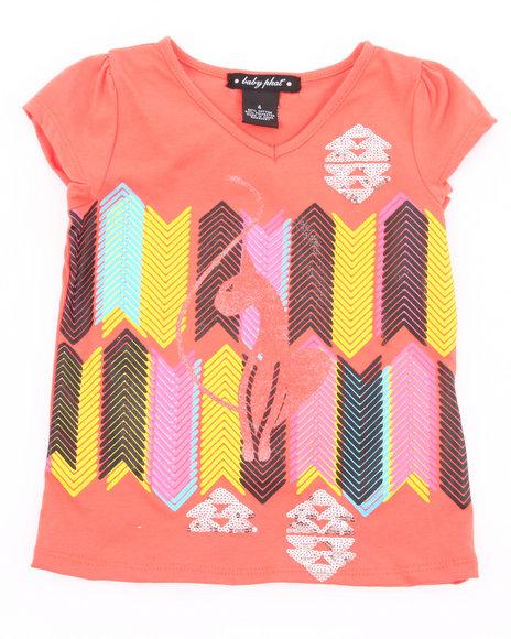 Baby Phat Girls Orange Geometric Kitty Tee (4-6X)