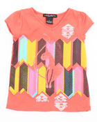 T-Shirts - GEOMETRIC KITTY TEE (4-6X)